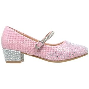 53d9e7034 Clothing, Shoes & Jewelry Flats SOBEYO Girls Low Heels Pumps T-Strap Bow  Accent Glitter Rhinestone Mary Jane ...